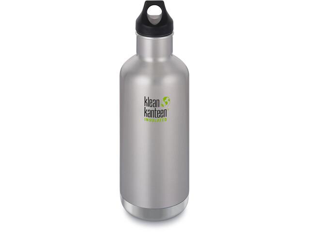 Klean Kanteen Classic Vacuum Insulated Bidón Tapa de Girar 946ml, Plateado